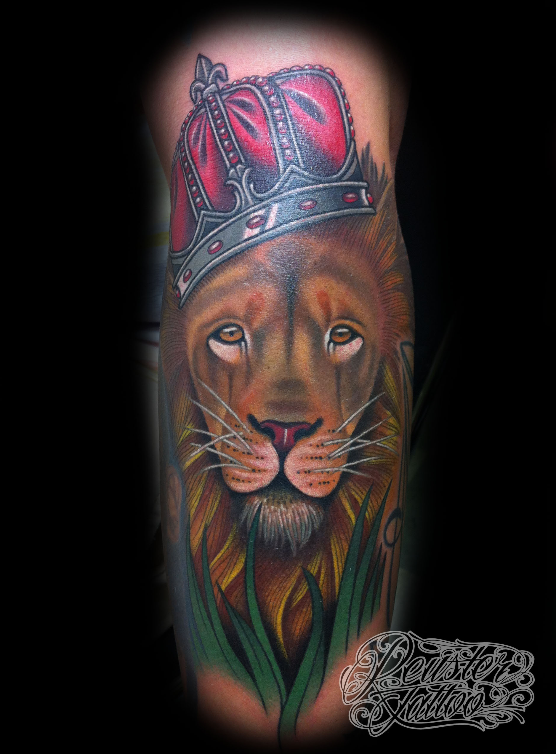 Lion king of the jungle tattoo - photo#9